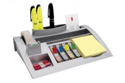 Post-it Index desk organizer, zilver, pour ft 26 x 16,5 x 5,5 cm
