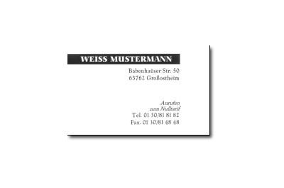 Decadry Cartes De Visite MicroLine Ft 85 X 54 Mm 285 G M 150